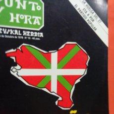 Coleccionismo de Revistas y Periódicos: PUNTO Y HORA IKURRIÑA GORA. Lote 206874215