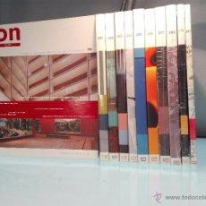 Coleccionismo de Revistas y Periódicos: GRAN LOTE DE 11 REVISTAS ON DISEÑO - INTERIORISMO, ARTE, DISEÑO INDUSTRIAL - 291 A 298,317.. Lote 54652078