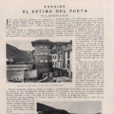 Coleccionismo de Revistas y Periódicos: * PASAJES DE SAN JUAN * VÍCTOR HUGO * EL RETIRO DEL POETA - 1921. Lote 54663109
