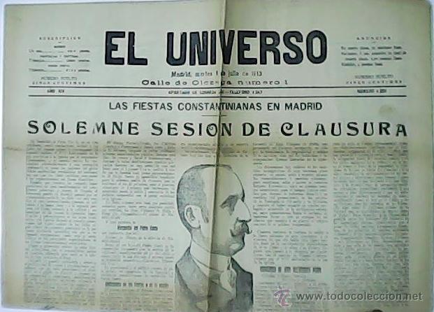 EL UNIVERSO. AÑO XIV. Nº4.356. (Coleccionismo - Revistas y Periódicos Antiguos (hasta 1.939))