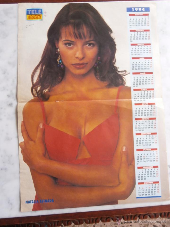 Natalia Estrada Calendario.Doble Poster Y Calendario 1994 Revista Tele Indiscreta Natalia Estrada Y Emilio Aragon 41 50 X 30
