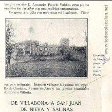 Coleccionismo de Revistas y Periódicos: BLIMEA 1915 CASTILLO ASTURIAS HOJA REVISTA. Lote 54718074