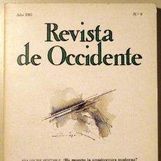 Coleccionismo de Revistas y Periódicos: REVISTA DE OCCIDENTE. OCTUBRE-DICIEMBRE DE 1981. Lote 54755169
