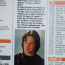 Coleccionismo de Revistas y Periódicos: RECORTE KEANU REEVES . Lote 54776341
