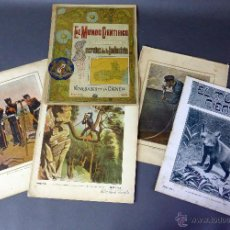 Coleccionismo de Revistas y Periódicos: 4 REVISTA EL MUNDO CIENTÍFICO NOVEDADES CIENCIA Nº 22 - 61 - 39 - 96 1900 - 1901 - 1902 - 1906 . Lote 54782841