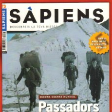 Coleccionismo de Revistas y Periódicos: REVISTA SAPIENS Nº 73 NOVEMBRE 2008 - SEGONA GUERRA MUNDIAL PASSADORS. Lote 54859977