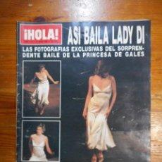 Coleccionismo de Revistas y Periódicos: REVISTA HOLA Nº 2161, DE 1986. BAILE DE LADY DI, CARMINA ORDÓÑEZ, JULIO JOSÉ Y ENRIQUE IGLESIAS. Lote 54862192