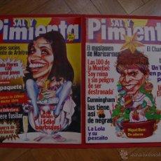 Coleccionismo de Revistas y Periódicos: 2 REVISTAS SAL Y PIMIENTA (1981). ANA BELÉN Y MIGUEL BOSÉ. ¡ORIGINALES! COLECCIONISTA. Lote 54873797