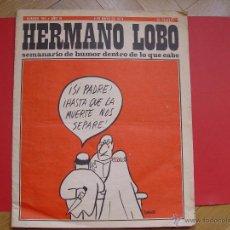 Coleccionismo de Revistas y Periódicos: HERMANO LOBO (Nº 104, 1974) BRUGUERA. REVISTA DE HUMOR. COLECCIONISTA. ORIGINAL. Lote 54876124