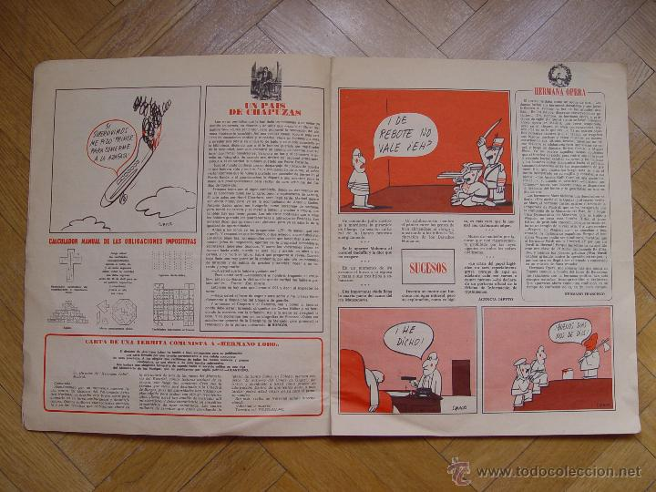 Coleccionismo de Revistas y Periódicos: HERMANO LOBO (Nº 104, 1974) BRUGUERA. Revista de Humor. Coleccionista. Original - Foto 5 - 54876124