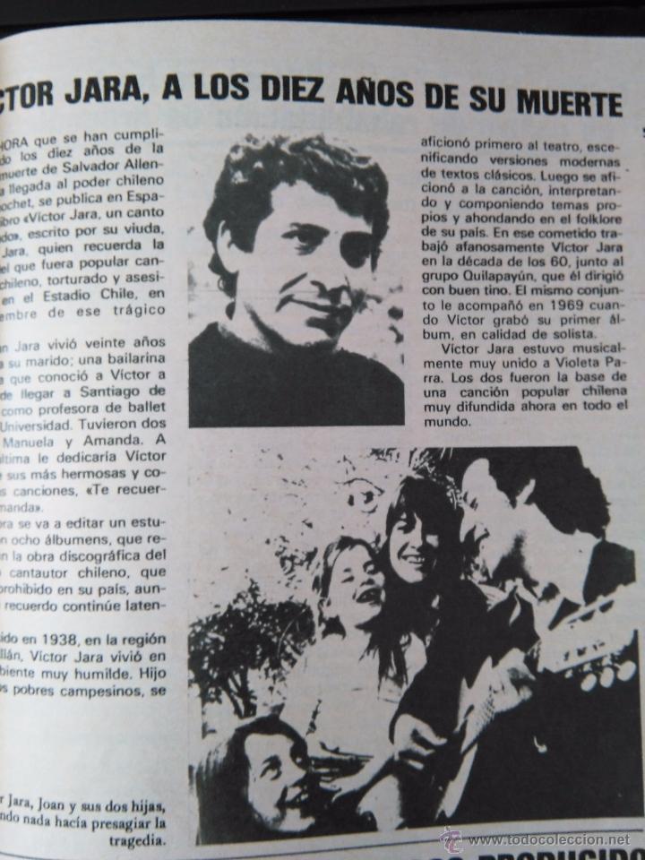 6a1b62ddc3 RECORTE VICTOR JARA (Coleccionismo - Revistas y Periódicos Modernos (a  partir de 1.940) ...