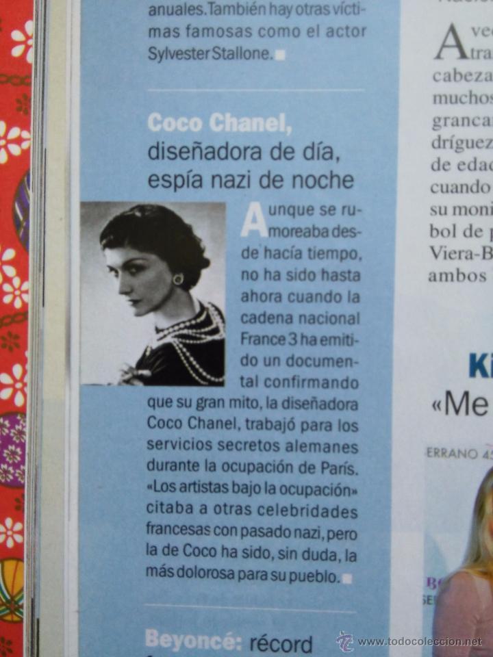 RECORTE COCO CHANEL CHANNELL CHANNEL (Coleccionismo - Revistas y Periódicos Modernos (a partir de 1.940) - Otros)