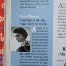 Coleccionismo de Revistas y Periódicos: RECORTE COCO CHANEL CHANNELL CHANNEL. Lote 54996184