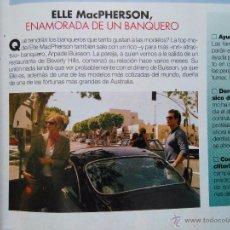 Coleccionismo de Revistas y Periódicos: RECORTE ELLE MACPHERSON. Lote 55002717