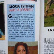 Coleccionismo de Revistas y Periódicos: RECORTE GLORIA ESTEFAN. Lote 55010038