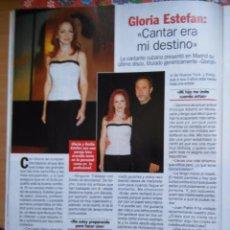 Coleccionismo de Revistas y Periódicos: RECORTE GLORIA ESTEFAN. Lote 55011232