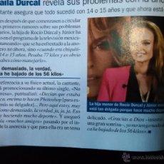 Coleccionismo de Revistas y Periódicos: RECORTE SHAILA DURCAL. Lote 55016959