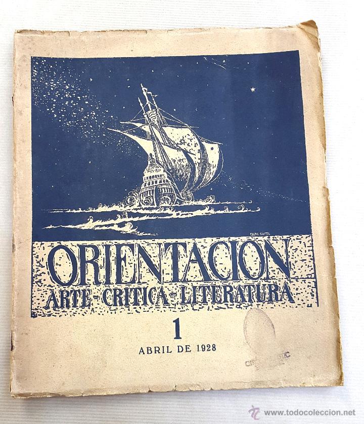 Coleccionismo de Revistas y Periódicos: ORIENTACIÓN - 1928 - BUENOS AIRES - Nº 1 - REVISTA DE ARTE Y CULTURA - Foto 2 - 55021634
