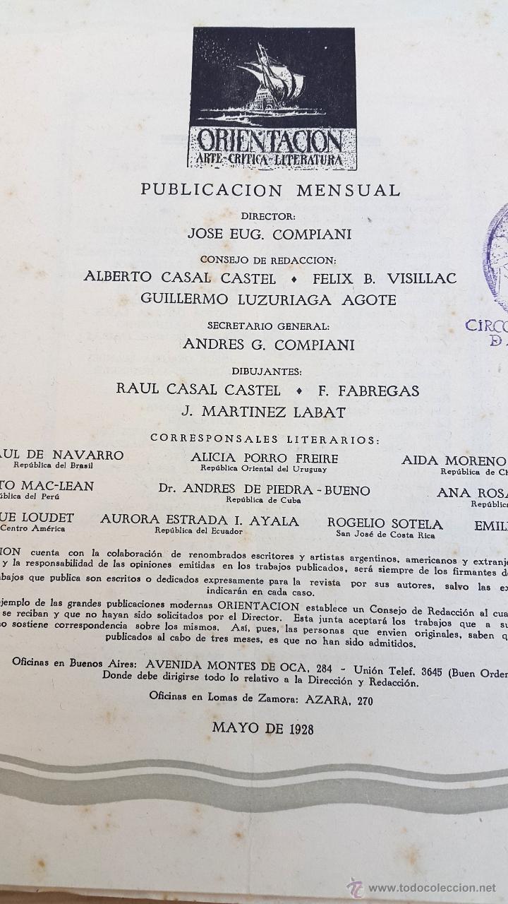 Coleccionismo de Revistas y Periódicos: ORIENTACIÓN - 1928 - BUENOS AIRES - Nº 2 - REVISTA DE ARTE Y CULTURA - Foto 3 - 55023285