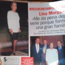 Coleccionismo de Revistas y Periódicos: RECORTE LINA MORGAN. Lote 55035402