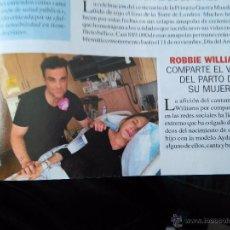 Coleccionismo de Revistas y Periódicos: RECORTER ROBBIE WILLIAMS TAKE THAT. Lote 55054527