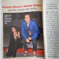Coleccionismo de Revistas y Periódicos: RECORTE ORLANDO BLOOM SELENA GOMEZ. Lote 55054962