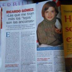 Coleccionismo de Revistas y Periódicos: RECORTE RICARDO GOMEZ CUENTAME. Lote 55057413