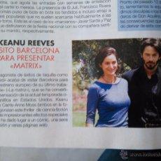 Coleccionismo de Revistas y Periódicos: RECORTE KEANU REEVES . Lote 55057621