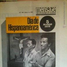 Coleccionismo de Revistas y Periódicos: MENSAJE IBEROAMERICANO,N.148 FEBRERO DE 1978. Lote 55058615