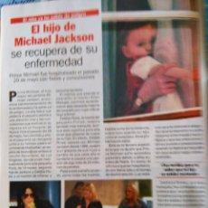 Coleccionismo de Revistas y Periódicos: RECORTE MICHAEL JACKSON. Lote 55060280