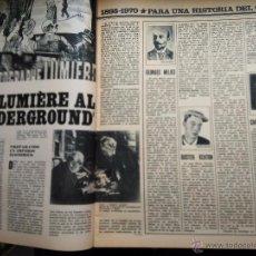 Coleccionismo de Revistas y Periódicos: RECORTE 75 AÑOS DE CINE MARILYN MONROE HUMPREY BOGART ALFRED HITCHCOCK BUSTER KEATON CHARLIE CHAPLIN. Lote 55081522