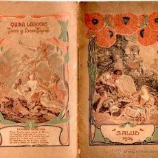Coleccionismo de Revistas y Periódicos: ALMANAQUE SALUD 1904 - ILUSTRACIÓN MODERNISTA. Lote 55100221