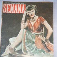 Coleccionismo de Revistas y Periódicos: ANTIGUA REVISTA SEMANA. NUMERO 424. MADRID, 6 ABRIL 1948. Lote 55109220