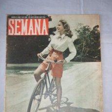 Coleccionismo de Revistas y Periódicos: ANTIGUA REVISTA SEMANA. NUMERO 425. MADRID, 13 ABRIL 1948. Lote 55109230