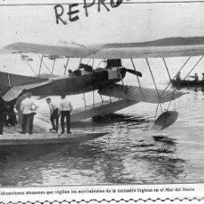 Coleccionismo de Revistas y Periódicos: HIDROAVION 1914 MAR DEL NORTE ESCUADRA INGLESA HOJA REVISTA. Lote 55149479