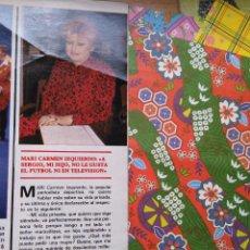 Coleccionismo de Revistas y Periódicos: RECORTE MARI CARMEN IZQUIERDO. Lote 55225464