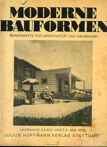 Revista arquitectura alemana moderne bauformen comprar for Revistas de arquitectura online