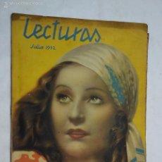 Coleccionismo de Revistas y Periódicos: LECTURAS JULIO 1932. Lote 55340880
