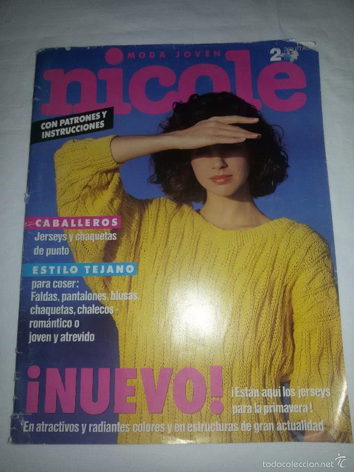 REVISTA NICOLE -EN ALEMÁN-45 MODELOS Y SUS INSTRUCCIONES-HOJA DE PATRONES (Coleccionismo - Revistas y Periódicos Modernos (a partir de 1.940) - Otros)