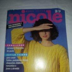 Coleccionismo de Revistas y Periódicos: REVISTA NICOLE -EN ALEMÁN-45 MODELOS Y SUS INSTRUCCIONES-HOJA DE PATRONES. Lote 55350703