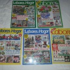 Coleccionismo de Revistas y Periódicos: 5 REVISTAS-LABORES-PUNTO DE CRUZ. Lote 55358347