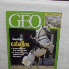Coleccionismo de Revistas y Periódicos: REVISTA GEO Nº 107 DICIEMBRE 1995 NUESTROS CABALLOS . Lote 55368041