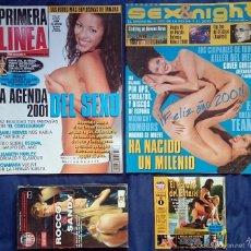 Coleccionismo de Revistas y Periódicos: REVISTA PRIMERA LÍNEA Nº 189 + SUPLEMENTO SEX&NIGHT + VHS ROCCO & SANDY + CD ROM. Lote 55379089