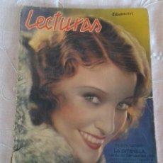 Coleccionismo de Revistas y Periódicos: REVISTA LECTURAS OCTUBRE 1932. Lote 55393043