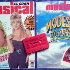 Coleccionismo de Revistas y Periódicos: EL GRAN MUSICAL Nº 315, ABRIL 1990, MARTA SÁNCHEZ, TINO CASAL, MADONNA,DEPECHE MODE + SUPL + CASS. Lote 55396111