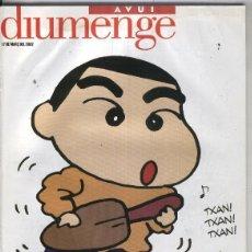 Coleccionismo de Revistas y Periódicos: AVUI DIUMENGE 17 MARç 2002. Lote 55444240