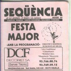 Coleccionismo de Revistas y Periódicos: SEQUENCIA AGOSTO 2007. Lote 55453144