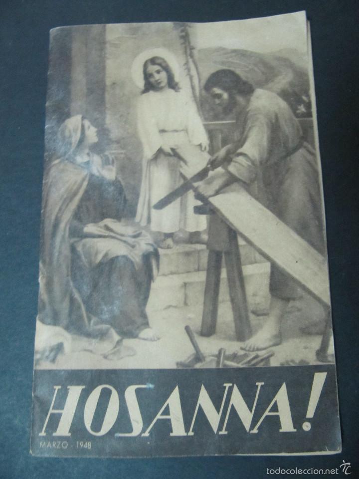 REVISTA HOSANNA! MARZO 1948. EL SANTO SEPULCRO (Coleccionismo - Revistas y Periódicos Modernos (a partir de 1.940) - Otros)