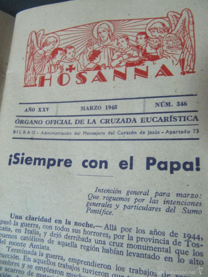Coleccionismo de Revistas y Periódicos: REVISTA HOSANNA! MARZO 1948. EL SANTO SEPULCRO - Foto 4 - 55697015