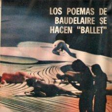 Coleccionismo de Revistas y Periódicos: 1969 BALLET POESIA BAUDELAIRE BEJART HUMOR BELLUS MINGOTE TEATRO CHICAS DE REVISTA RUBEN DARIO . Lote 55776510